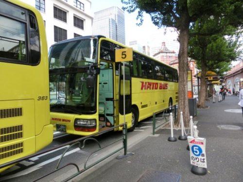 東京駅そばのはとバス乗り場